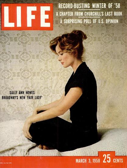 Sally Ann Howes New Fair Lady 3 Mar 1958 Copyright Life Magazine | Life Magazine Color Photo Covers 1937-1970