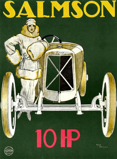 Salmson 10 HP 1922 | Sex Appeal Vintage Ads and Covers 1891-1970