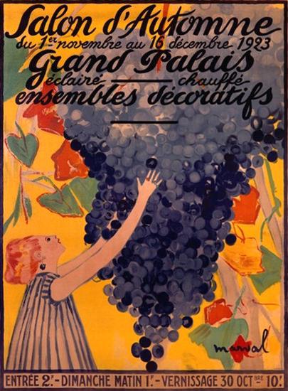 Salon D Automne 1923 Grand Palais Ensembles | Vintage Ad and Cover Art 1891-1970
