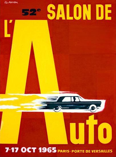 Salon De L Auto 1965 Paris Porte De Versailles | Vintage Ad and Cover Art 1891-1970