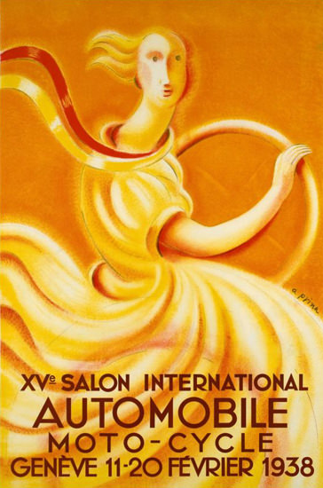 Salon International Automobile Geneve 1938 | Vintage Ad and Cover Art 1891-1970