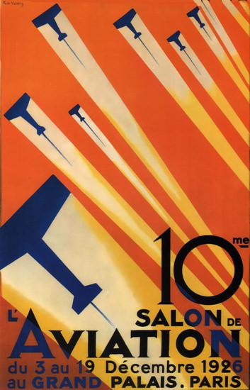Salon L Aviation 1926 Grand Palais Paris France | Vintage Travel Posters 1891-1970