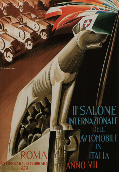 Salone Internazionale Dell Automobile Roma 1929 | Vintage Ad and Cover Art 1891-1970