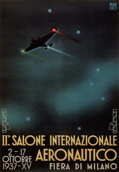 Salone Internazonale Aeronautico 1937 Italia | Vintage Ad and Cover Art 1891-1970