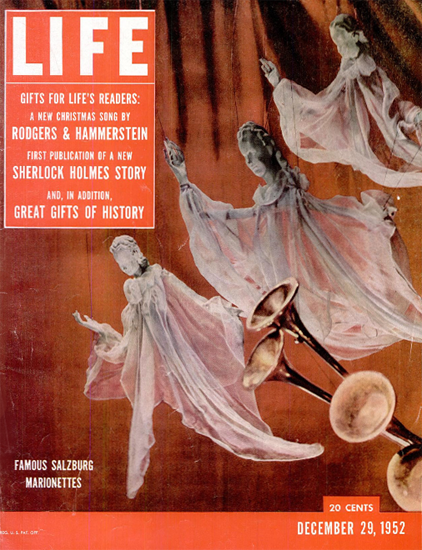 Salzburg Marionettes 29 Dec 1952 Copyright Life Magazine | Life Magazine Color Photo Covers 1937-1970