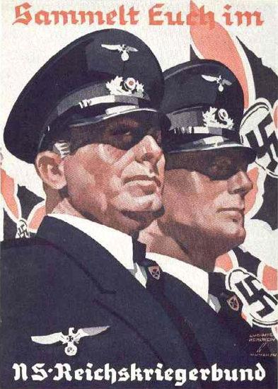 Sammelt Euch Im NS-Reichskiegerbund   Vintage War Propaganda Posters 1891-1970