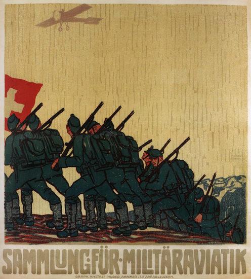 Sammlung Fuer Militaeraviatik Switzerland | Vintage War Propaganda Posters 1891-1970