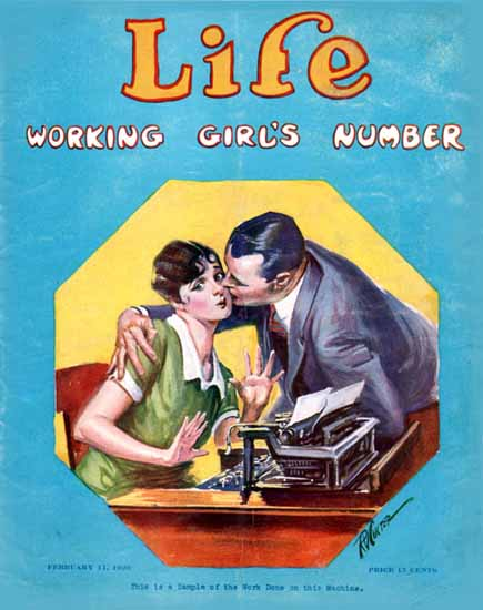 Sample of the Work Life Humor Magazine 1926-02-11 Copyright | Life Magazine Graphic Art Covers 1891-1936