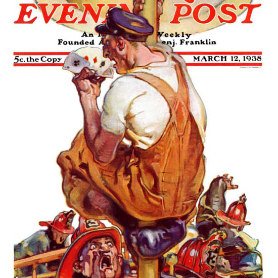 Samuel Nelson Abbott Saturday Evening Post 1938_03_12 Copyright crop | Best of 1930s Ad and Cover Art