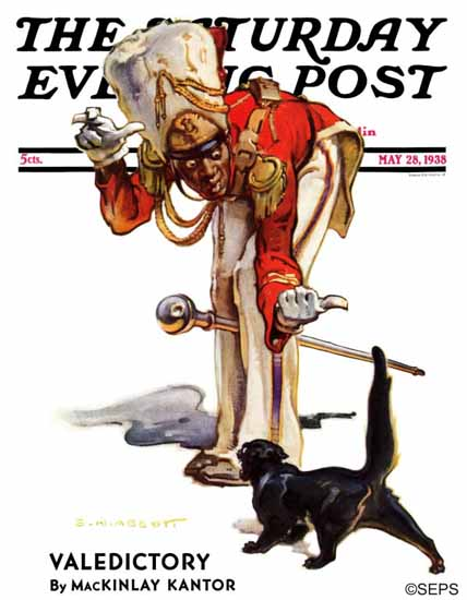 Samuel Nelson Abbott Saturday Evening Post The Black Cat 1938_05_28   The Saturday Evening Post Graphic Art Covers 1931-1969
