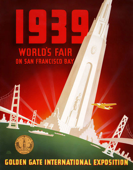 San Francisco 1939 Worlds Fair Golden Gate | Vintage Ad and Cover Art 1891-1970
