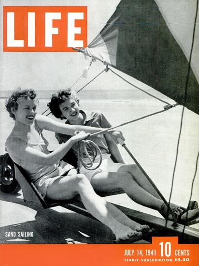 Sand Sailing 14 Jul 1941 Copyright Life Magazine | Life Magazine BW Photo Covers 1936-1970