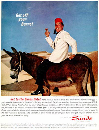 Sands Hotel 1964 Get Off Your Burro | Vintage Travel Posters 1891-1970