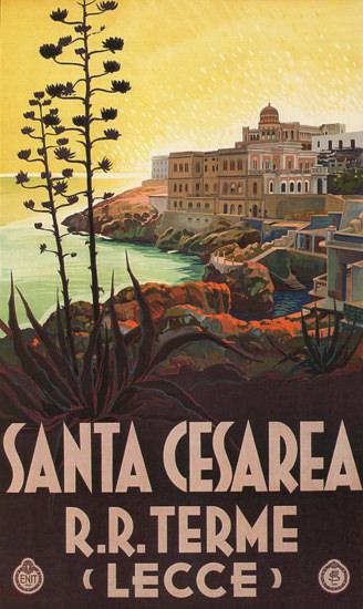 Santa Cesarea RR Terme Lecce Italy Italia | Vintage Travel Posters 1891-1970