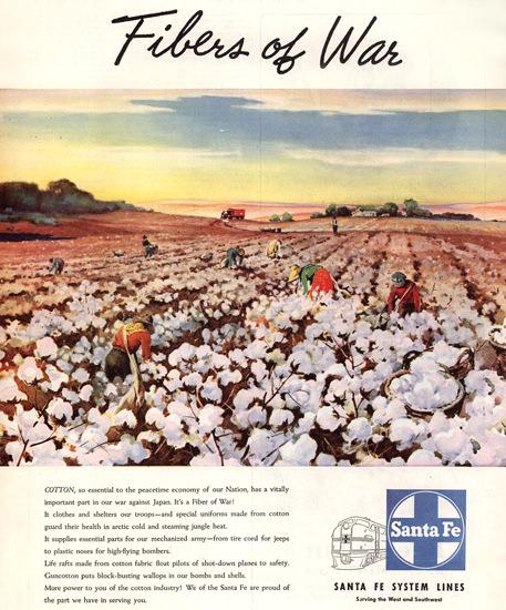 Santa Fe Fibers Of War 1945 | Vintage War Propaganda Posters 1891-1970
