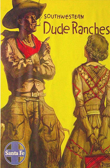 Santa Fe Southwestern Dude Ranches 1931 | Sex Appeal Vintage Ads and Covers 1891-1970
