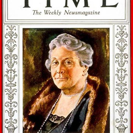 Sara Delano Roosevelt Time Magazine 1933-03 crop | Best of Vintage Cover Art 1900-1970