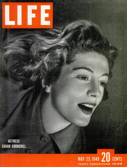 Sarah Churchill Actress 23 May 1949 Copyright Life Magazine | Life Magazine BW Photo Covers 1936-1970