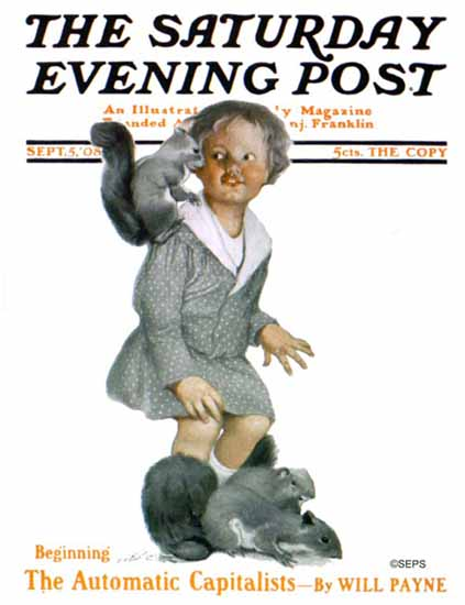 Sarah Stilwell-Weber Cover Artist Saturday Evening Post 1908_09_05 | The Saturday Evening Post Graphic Art Covers 1892-1930