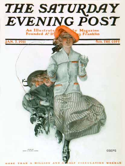 Sarah Stilwell-Weber Cover Artist Saturday Evening Post 1911_01_07 | The Saturday Evening Post Graphic Art Covers 1892-1930