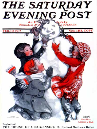 Sarah Stilwell-Weber Cover Artist Saturday Evening Post 1917_02_10 | The Saturday Evening Post Graphic Art Covers 1892-1930
