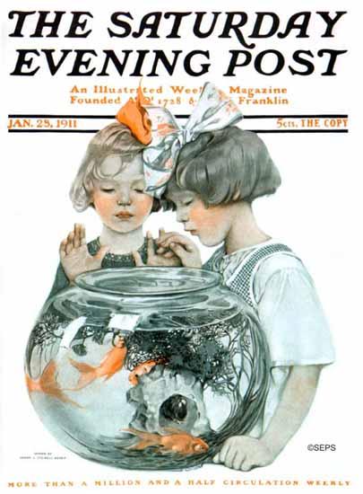 Sarah Stilwell-Weber Saturday Evening Post 1911_01_28 | The Saturday Evening Post Graphic Art Covers 1892-1930