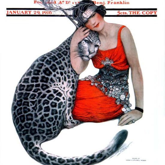 Sarah Stilwell-Weber Saturday Evening Post 1916_01_29 Copyright crop | Best of Vintage Cover Art 1900-1970