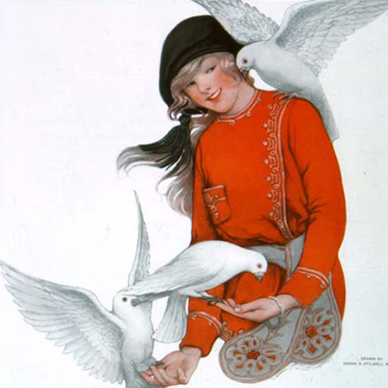 Sarah Stilwell-Weber Saturday Evening Post 1916_03_04 Copyright crop | Best of Vintage Cover Art 1900-1970