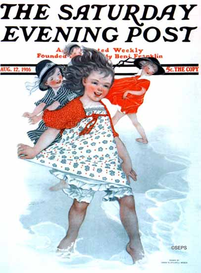 Sarah Stilwell-Weber Saturday Evening Post 1916_08_12 | The Saturday Evening Post Graphic Art Covers 1892-1930