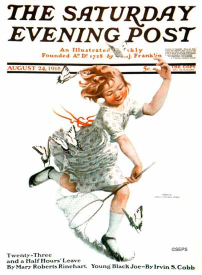Sarah Stilwell-Weber Saturday Evening Post 1918_08_24 | The Saturday Evening Post Graphic Art Covers 1892-1930