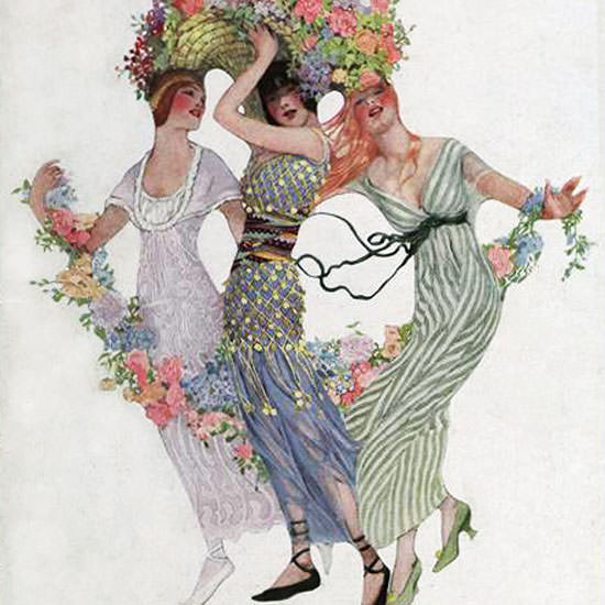 Sarah Stilwell Weber Vogue Cover 1913-06-15 Copyright crop | Best of Vintage Cover Art 1900-1970