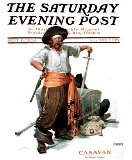 Saturday Evening Post Canavan 1909_09_11 | The Saturday Evening Post Graphic Art Covers 1892-1930
