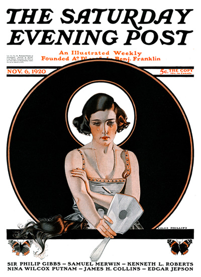 Saturday Evening Post Copyright 1920 Crying Girl | Sex Appeal Vintage Ads and Covers 1891-1970