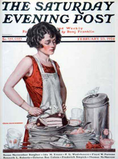 Saturday Evening Post Copyright 1924 Desperate Wife | Sex Appeal Vintage Ads and Covers 1891-1970