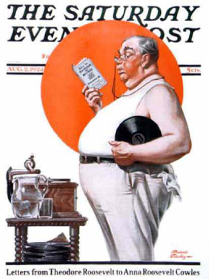 Saturday Evening Post Copyright 1924 Fat Mans Manual | Sex Appeal Vintage Ads and Covers 1891-1970