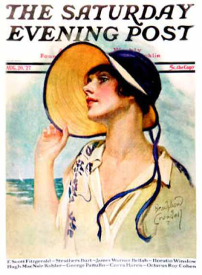 Saturday Evening Post Copyright 1927 Lady Summer Hut | Sex Appeal Vintage Ads and Covers 1891-1970