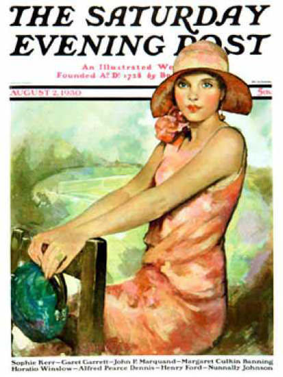 Saturday Evening Post Copyright 1930 Pretty in Pink   Sex Appeal Vintage Ads and Covers 1891-1970