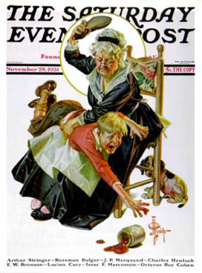 Saturday Evening Post Copyright 1931 In a Jam | Vintage Ad and Cover Art 1891-1970