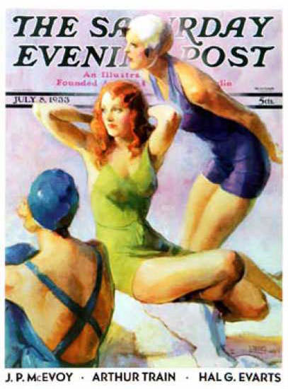 Saturday Evening Post Copyright 1933 Bathing Beauties | Sex Appeal Vintage Ads and Covers 1891-1970