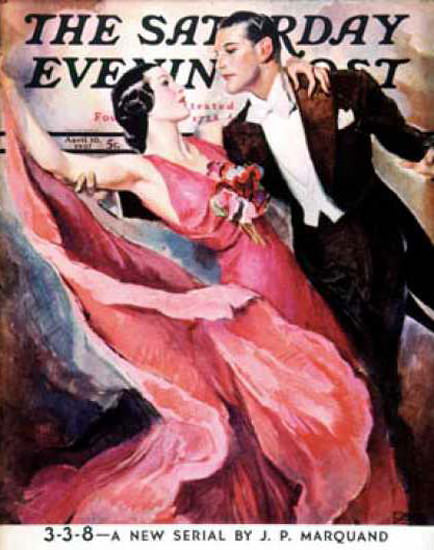 Saturday Evening Post Copyright 1937 Ballroom Dancing | Sex Appeal Vintage Ads and Covers 1891-1970