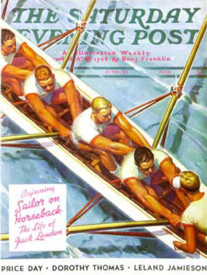 Saturday Evening Post Copyright 1938 Scullers Dolas | Vintage Ad and Cover Art 1891-1970