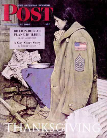 Saturday Evening Post Copyright 1943 Refugee Thanks | Vintage Ad and Cover Art 1891-1970