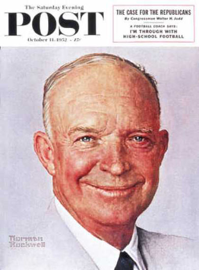 Saturday Evening Post Copyright 1952 Dwight D Eisenhower | Vintage Ad and Cover Art 1891-1970