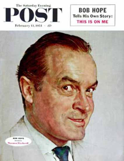 Saturday Evening Post Copyright 1954 Bob Hope | Sex Appeal Vintage Ads and Covers 1891-1970