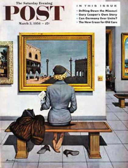 Saturday Evening Post Copyright 1956 Art Lover Museum | Vintage Ad and Cover Art 1891-1970