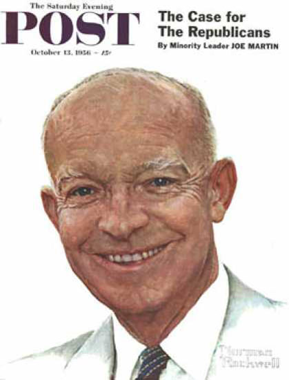 Saturday Evening Post Copyright 1956 Dwight Eisenhower | Vintage Ad and Cover Art 1891-1970