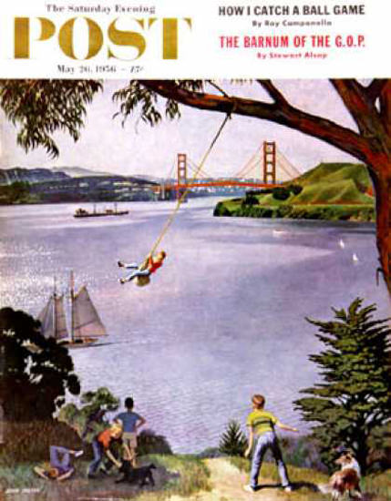 Saturday Evening Post Copyright 1956 San Francisco Boys | Vintage Ad and Cover Art 1891-1970