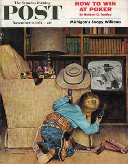 Saturday Evening Post Copyright 1957 Good Guys Hats | Vintage Ad and Cover Art 1891-1970