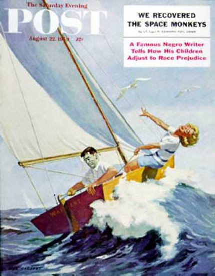 Saturday Evening Post Copyright 1959 Seasick Sailor | Sex Appeal Vintage Ads and Covers 1891-1970
