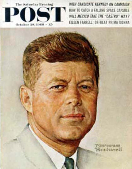 Saturday Evening Post Copyright 1960 John F Kennedy | Vintage Ad and Cover Art 1891-1970